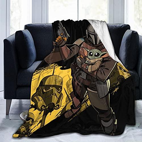 Star Yoda Wars - Manta de microfibra ultrasuave para cama y sofá en todas las estaciones, 50 x 40 pulgadas