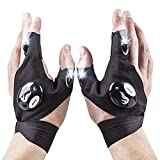 Flashlight Gloves - Tactical LED Light Gloves for Mechanics, Computer & Car Repair, Outdoor | Waterproof, Lightweight & Flexible | Perfect for Camping, Night Running, Fishing, Cycling | Handyman Gifts