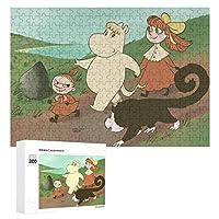 300ピース ジグソーパズル パズル 木製パズル 飾り画 ムーミン 参考図付き 減圧玩具 頭脳練習 創造力 知育 子供 大人 ギフト プレゼント puzzle