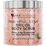 Exfoliante corporal PraNaturals de Sal rosada del Himalaya 500g, rico en vitaminas y minerales nutritivos, elimina las células cutáneas muertas y rejuvenece la piel, apto para todo tipo de piel.