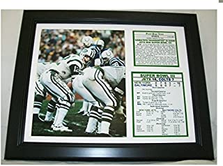 11x14 1969 Super Bowl III New York Jets vs Baltimore Colts Joe Namath 8X10 PHOTO The Guarantee