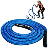 Hyperwear Hyper Rope Fluid Metal Core Short Unanchored Take Anywhere Premium Exercise Rope for...