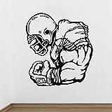 Affiche De Joueur De Football Autocollant Mural Athlète Jeu De Sport Rugby Vinyle Autocollant Décalcomanie Décor À La Maison Chambre Salon Mural 56X61Cm