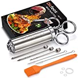 Dicfeos Meat Injector, Stainless Steel Marinade injector Syringe for BBQ Grill and Turkey, 2 Ounce...