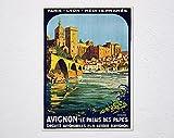 Broders Roger Avignon Le Palais des Papes 1922 Poster,
