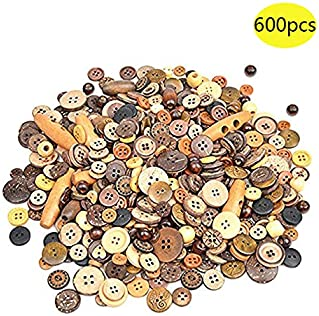 Skull Funky 2 Hole Buttons Wooden Pack Of 6