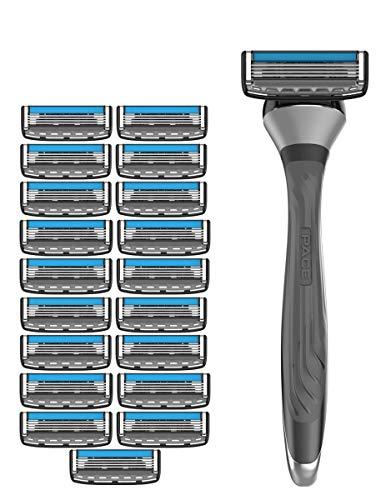Maquinilla de afeitar Dorco Pace 4 Pro para hombres (20 cuchillas + 1