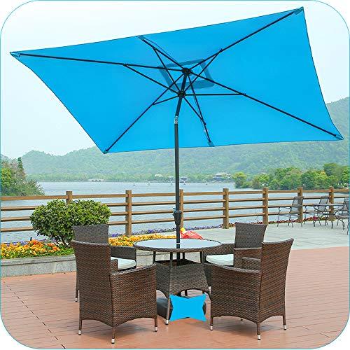 Sombrilla Exterior para Patio 2x3m Mecanismo De Inclinación De Manivela Protección UV Impermeable,sombrilla Rectangular para Balcón De Jardín Y Patio Trasero LMJN