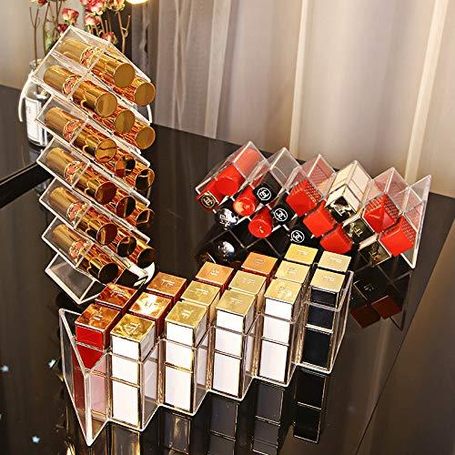 TIANHAO 16 carreaux en Acrylique, Maquillage Organisateur, Boîte De Rangement Cosmétique Rouge À Lèvres