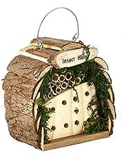 Pet Ting - Casa de Madera Natural para Colgar Insectos y Abejas, decoración de jardín
