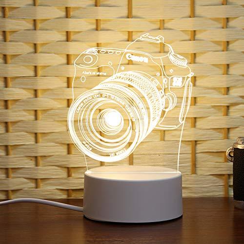 Kreative 3d Nachtlicht-touch-lampe Urlaub Geschenk Nachttischlampe Schlafzimmer Dekorative Atmosphäre Lampe die Filmkamera