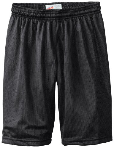 Soffe Big Boys' 7 Inch Poly Mini Mesh Short, Black, Medium