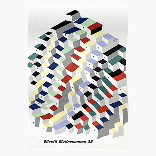Sconosciuto Olivetti Retro Studio Elettrosumma Vintage Typewriter 44 Home Decor Wall Art Print Poster !