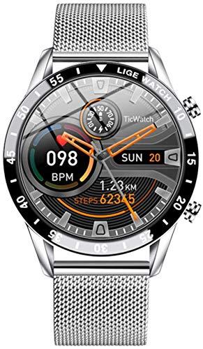 Reloj Inteligente Moda Deportes Sueño Información Recordatorio Adecuado Impermeable Relojes para Hombre y Mujeres-a