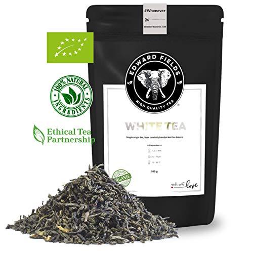 Edward Fields - Té Blanco Orgánico de alta calidad. Cantidad: 100g. Formato:...