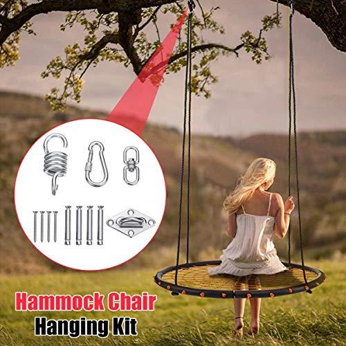 SHIJING roestvrijstalen hangstoel schommelstoel opknoping kit plafond montage lente draaibare haak Camping accessoires Outdoor gereedschap