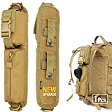 WYNEX Tactical Molle Accessory Pouch, Backpack Shoulder Strap Bag Shoulder Tape Additional Bag Multifunctional Hunting Tools Pouch (Khaki (Upgraded) - 1 Pack)