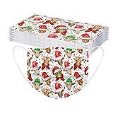 YpingLonk 10/30/50/100pc Unisex Adulto Año Nuevo Bufanda Moda Universal 3 Capa Impreso Lindo Gancho elástico Bufanda para Mujeres Hombres -21124-5