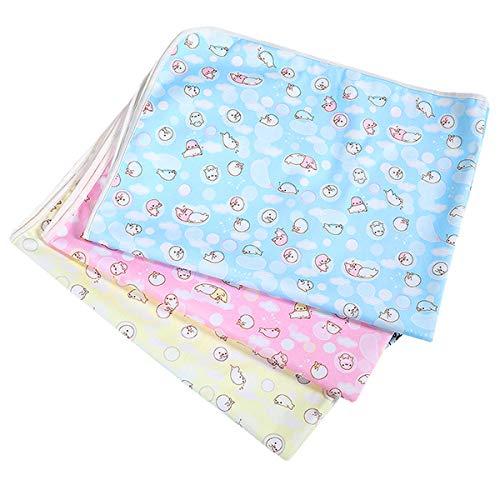 Zuzer 3pcs Colchon Bebe Almohadilla Impermeable Colchón Bebé Lavables Cama para Bebés Colchón Pañales Cambiador Pad para Niños Adultos Y Mascotas