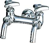 LIXIL(リクシル) INAX 洗面器・手洗器 壁付 横水栓2ツ口ホーム水栓 LF-7Y-13