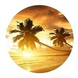 Tropical Hawaii playa palmera sol de verano alfombrilla de ratón tamaño...
