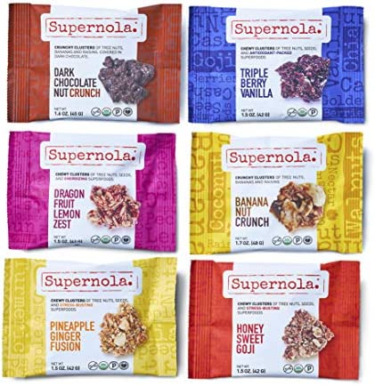 Supernola Superfood Clusters 6pc Variety Pack Plant Based Protein Delicious Fruits Nuts Seeds product image