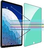 Kinmiee Protección ocular con luz verde Protector de pantalla para iPad Air 3 de 10.5 pulgadas (2019) y iPad Pro 10.5' (2017) Película de vidrio templado HD Anti Blue Light Anti UV Anti-scratch HD