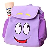 Dora Explorer Backpack Rescue Bag with Map,IGBBLOVE Pre-Kindergarten Toddler Plush Backback -Purple
