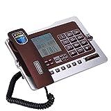 Asixxsix Teléfono con Cable, teléfono de Escritorio con Cable de Chip de Voz, teléfono de Escritorio con Cable, teléfono Fijo de Oficina, teléfonos fijos para(Red)