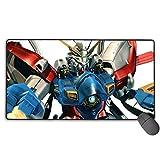 Alfrombrillas Mobile Fighter G Gundam-God Gundam Alfombrilla de ratón Antideslizante Alfombrilla de ratón Rectangular de Goma para Juegos 30x15,7 Pulgadas (75x40 cm)