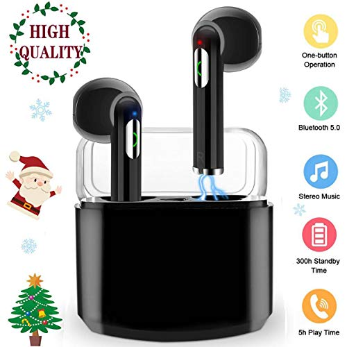 Wireless Earbuds,Bluetooth Headphones TWS Stereo Wireless Earbuds with Charging Case Mini Bluetooth Earbuds with Microphone Sports in Ear Wireless Earphones Bluetooth Headset for Work/Running/Travel