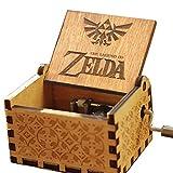 Cuzit Caja de música con diseño de la leyenda de Zelda, de madera, con manivela de mano, juguete