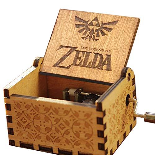 Cuzit The Legend of Zelda Spieluhr mit Spieluhr aus Holz, antiker geschnitzt
