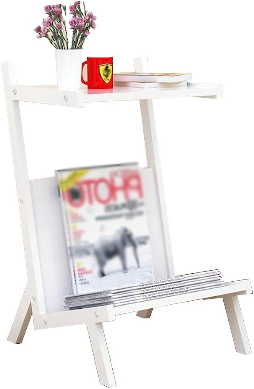 YNN Coffee Table, Sofa Side End Table Creative Magazine Rack Landing Simple Bookshelf Bedside Table Iron 35X40X60cm 4 colors (color   D)
