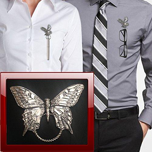 Swallowtail Butterfly C6 Broche de aro para gafas, bolígrafo, identificación, joyería de peltre
