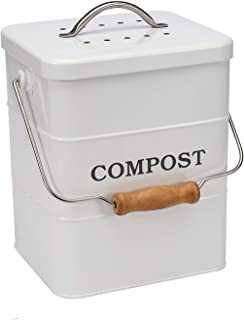 ayacatz Stainless Steel Compost Bin 1 Gallon-Includes Charcoal Filter