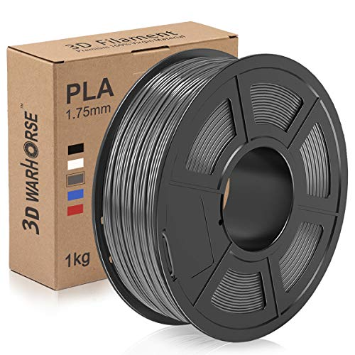 PLA Filament, 1.75mm 3D Printer Filament, Upgrade 2020 PLA 3D Printing 1KG Spool, Dimensional Accuracy +/- 0.02mm, Grey