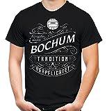 Mein Leben Bochum Männer und Herren T-Shirt | Fussball Ultras Geschenk | M1 Front (S, Schwarz)