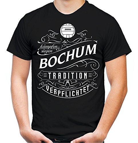 Mein Leben Bochum T-Shirt | Freizeit | Hobby | Sport | Sprüche | Fussball | Stadt | Männer | Herren | Fan | M1 Front (XXL)