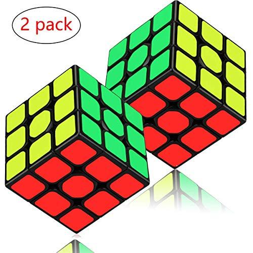 Aiduy Speed Cube Set 2-pack, 3x3 Speed Cube-bundel Magic Cube-puzzel met vloeiende sticker voor kinderen