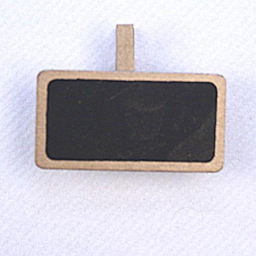 SANTEX 2989-3, Sachet de 12 Ardoises Ecole métallisées sur pince, or