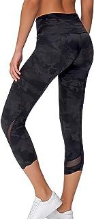TOKY Women's High Waist Yoga Capri Workout Yoga Leggings Active Tummy Control Capri Super Soft
