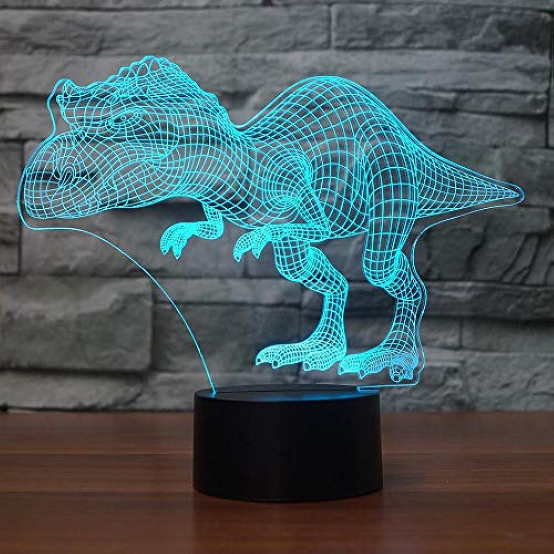 Mozhate 7 Farbwechsel 3D Kolossal Dinosaurier Tischlampe Led USB Schlaf Nachtlicht Nacht Dekor Touch Taste Leuchte Geschenk,Remote und berühren