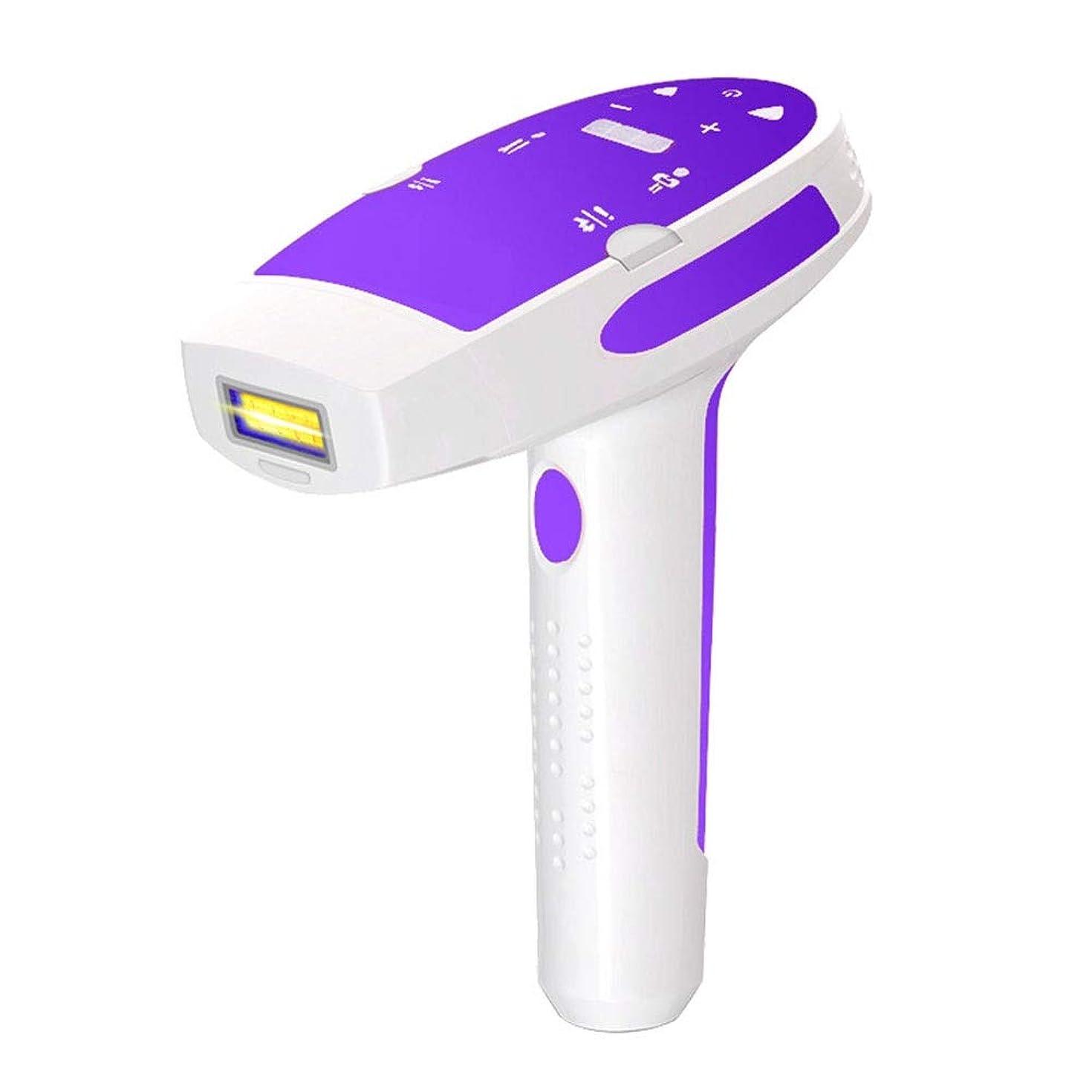 ペンフレンド知覚的認証紫、石英ランプの管、男性と女性のための痛みのない脱毛器具、3ランプホルダー、サイズ:22 X 22 X 10 Cm 安全性 (Color : Purple)