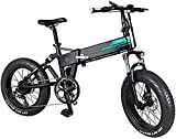 XINHUI Bici De Nieve Eléctrica, Bicicleta Eléctrica Rápida Adulta 20 Zoll 250W Bici De Montaña Eléctrica 7 Veloz Adulto Variable Velocidad 3 Modo Pantalla LCD