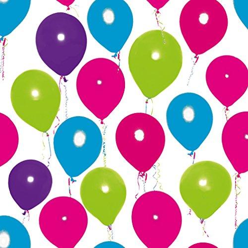 Susy Card 40006727 – Serviette Motif Happy Balloon, 33 x 33 cm, Rose