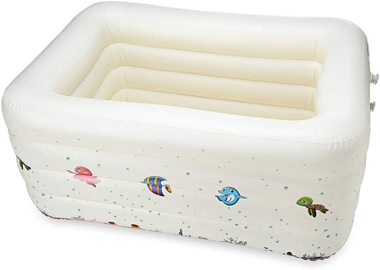 HEROTIGH Aufblasbare Pools Planschbecken Kinder Baby Gro Dick Aufblasbar 140X110X70Cm Schwimmbecken