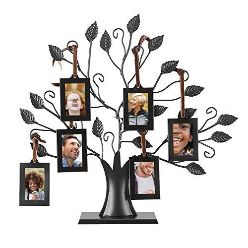 6 Ciondoli per Foto Albero della Famiglia Albero Genealogico Cornice Portafoto Cornice con Motivo Alberi da Appendere Tavolo Decorativo per la Foto Co