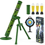 ABCaptain Mortar Military Blaster Toy, Missile Launcher Fires Foam Rockets for Youth, Teens, Adults