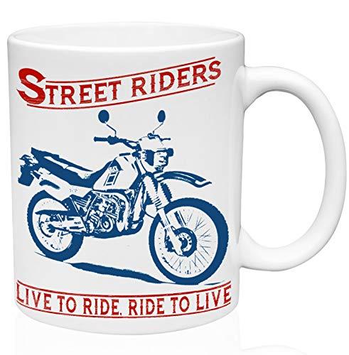 Yamaha dt 125 street riders 11oz Taza de café de cerámica de alta calidad